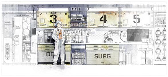 Space Station - Digital Illustration