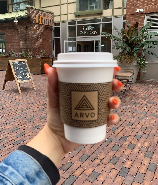 Arvo Coffee Pumpkin Spice Latte Best in Toronto Distillery District