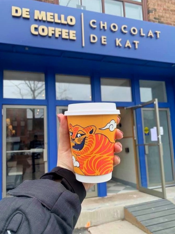 De Mello Coffee x Chocolat de Kat new coffee shop St. Clair W Toronto