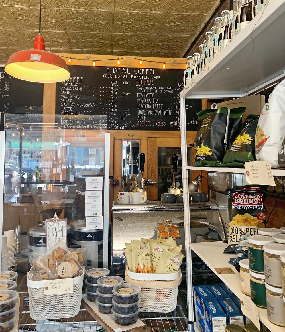 I DEAL Coffee & Wine Sorauren drink menu and merchendise for sale