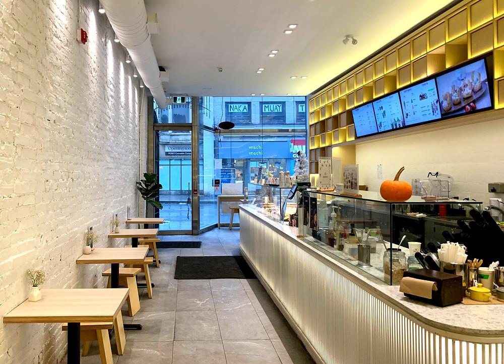 interior of Bloom Cafe Toronto