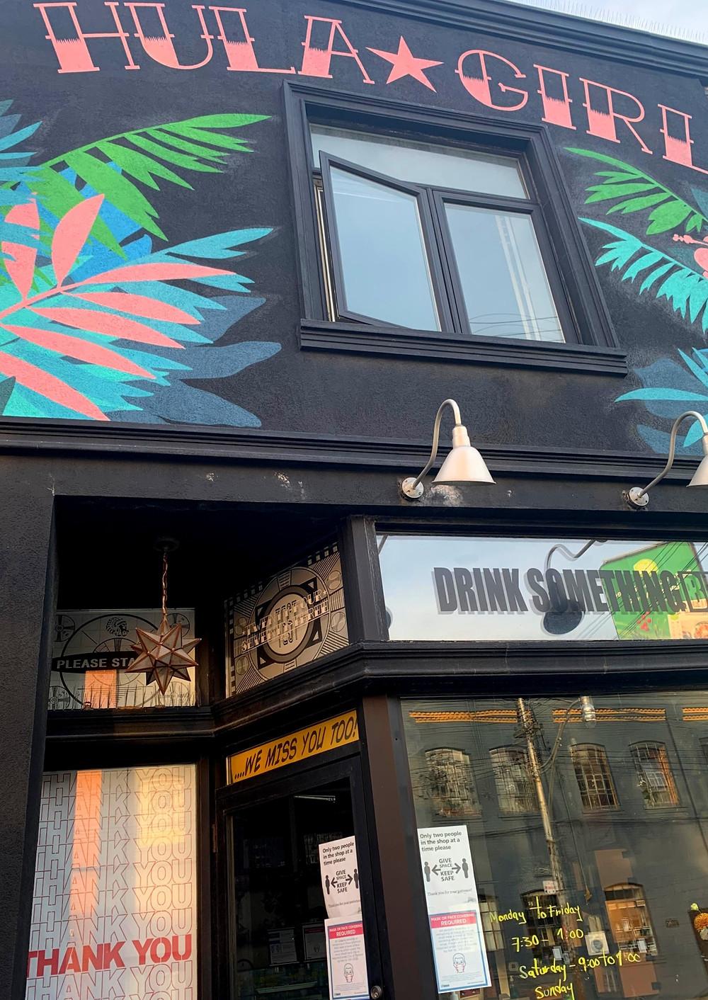 Hula Girl Espresso Boutique Junction Triangle coffee shop near Dundas West station