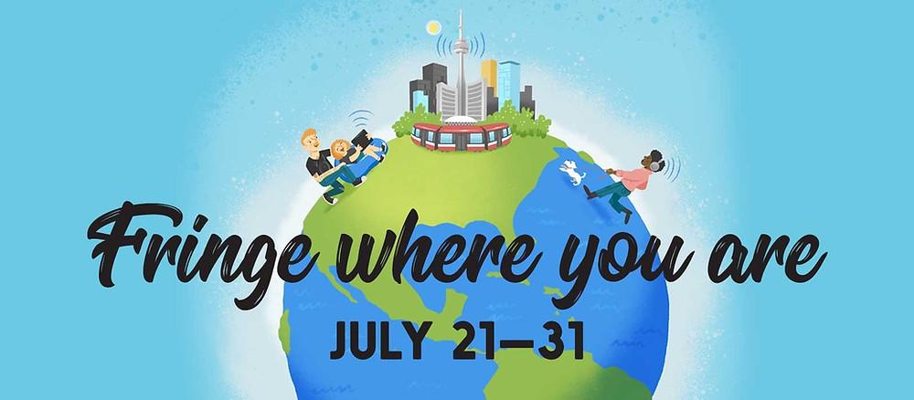 2021 Digital Toronto Fringe Festival - Fringe where you are logo