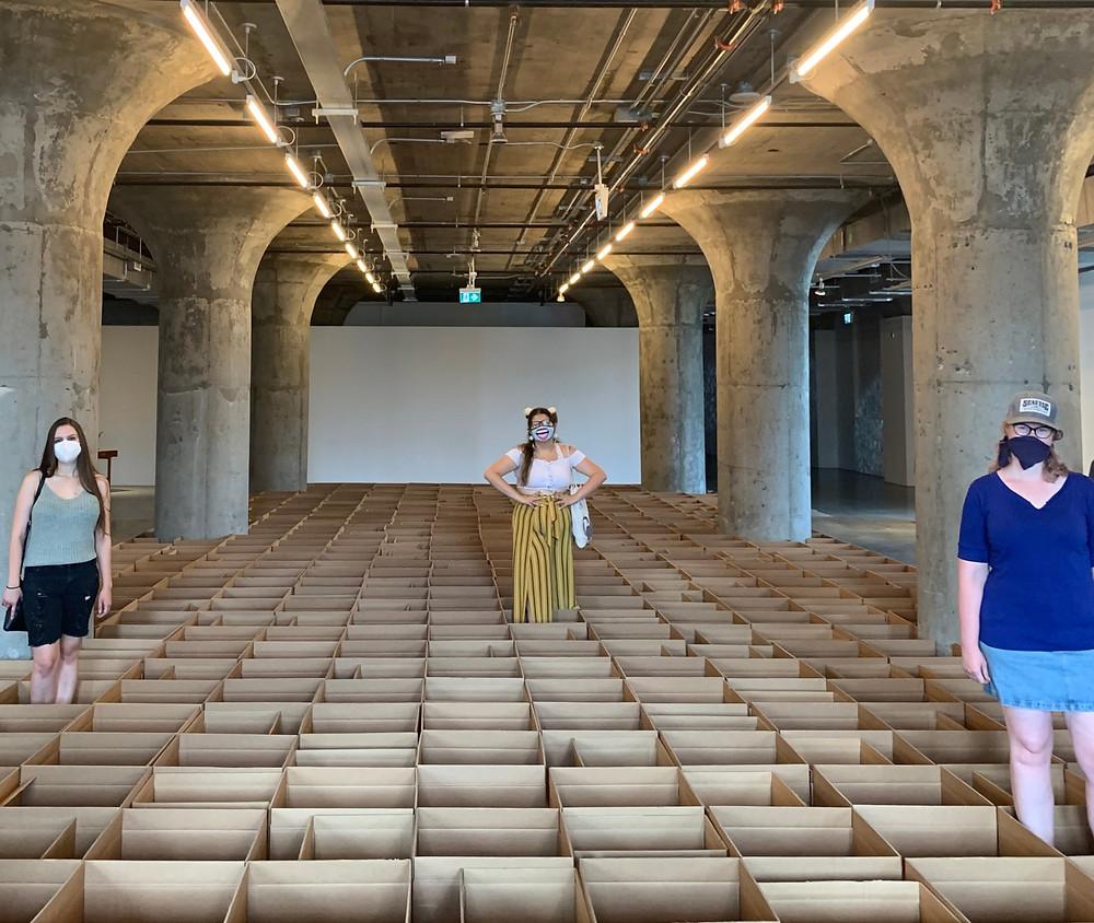 Carlos Bunga art MOCA 2020 boxes