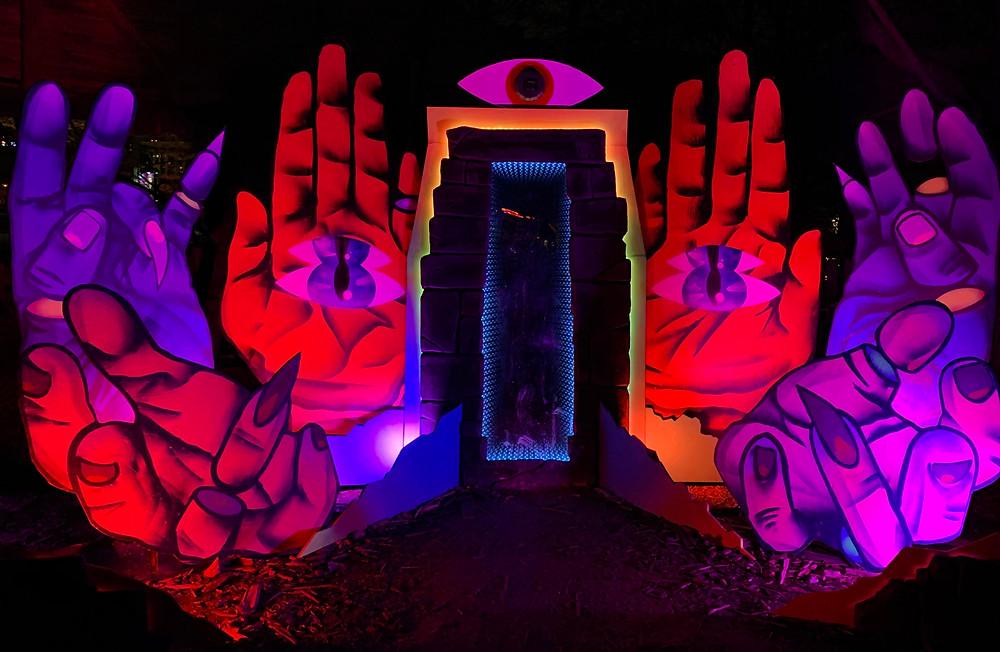 Kizmet's Portalis by Kizmet Gabriel, Toronto graffiti artist at Ontario Place