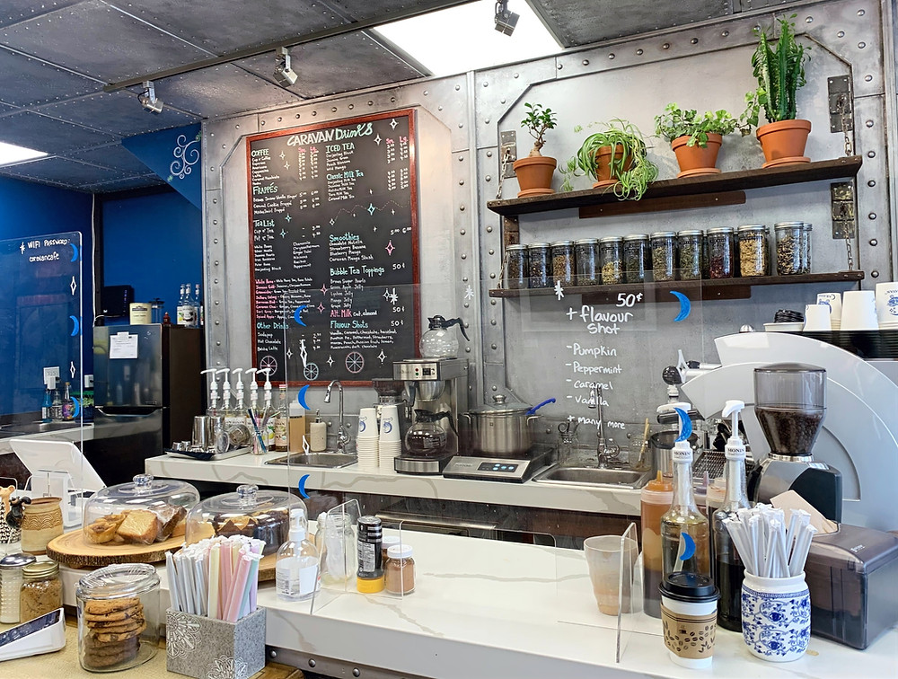 Caravan Cafe and Tea House Bloor St Toronto coffee shop menu