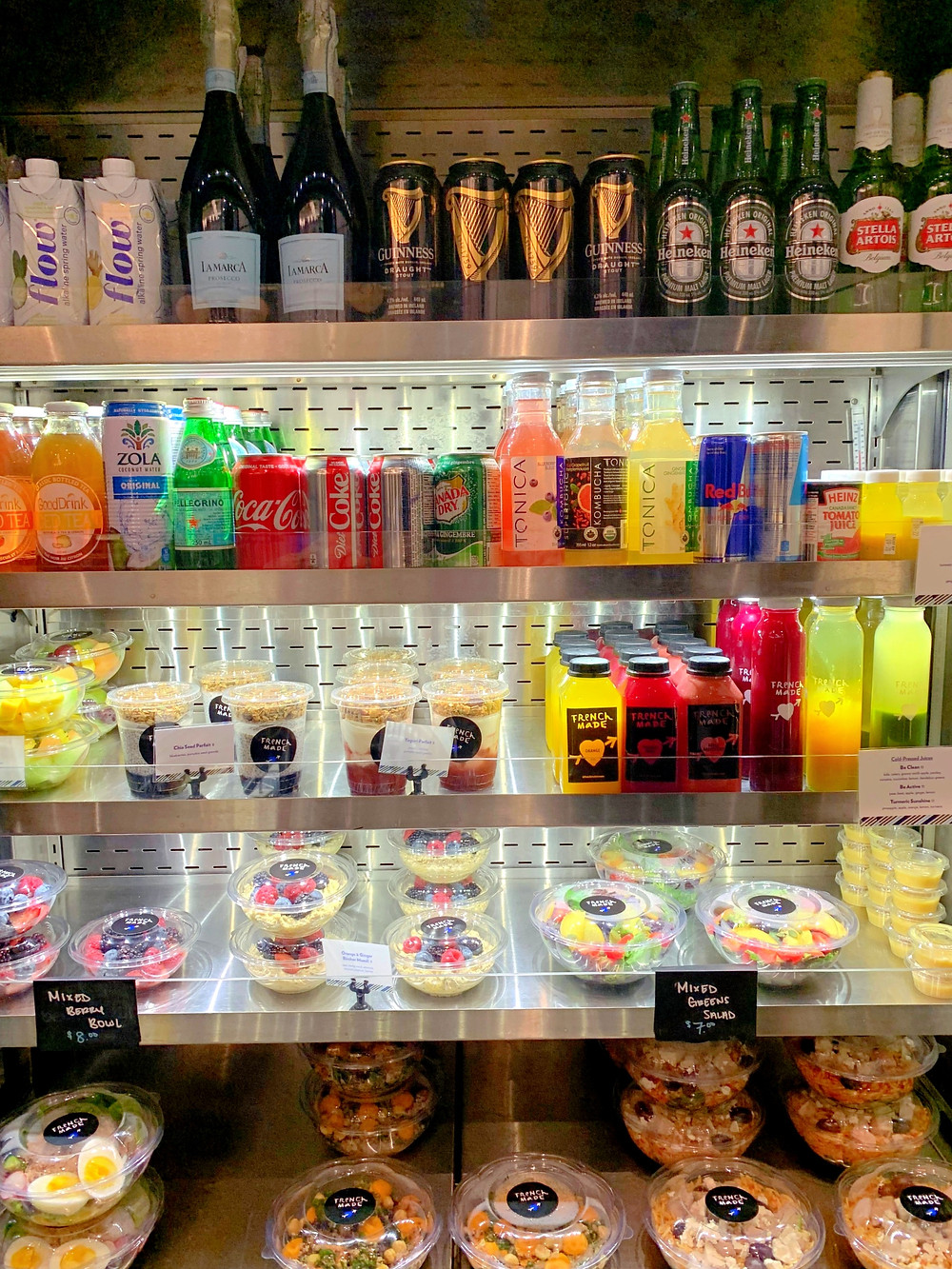 French Made Cafe Toronto alcohol fruit bowls fresh juices salads and more on menu