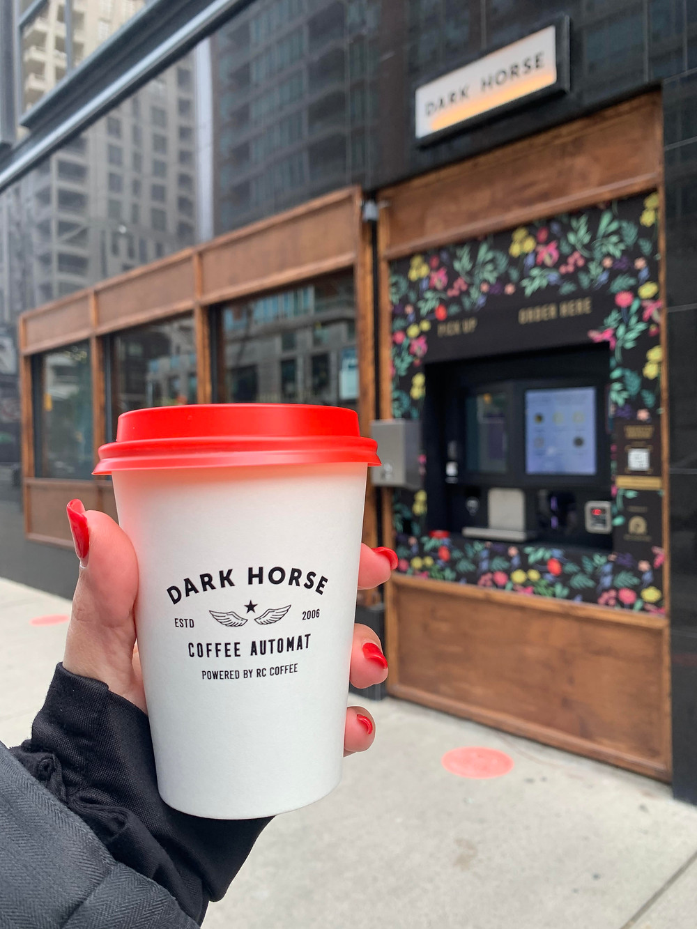 Dark Horse Coffee Automat by RC Coffee located in Yorkville Toronto