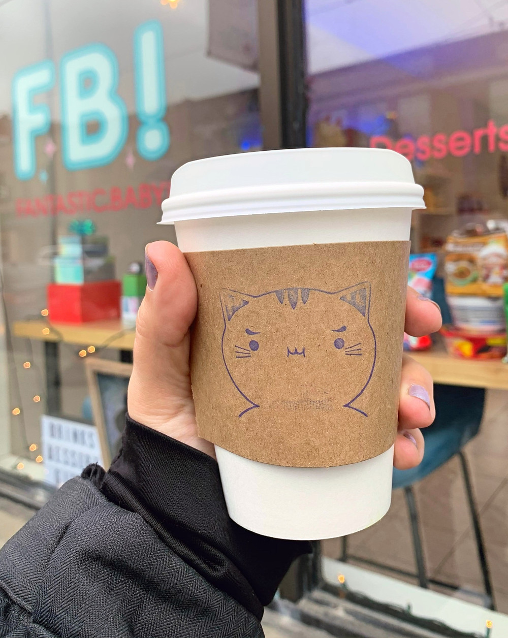 Fantastic Baby Cafe Toronto cute coffee cup