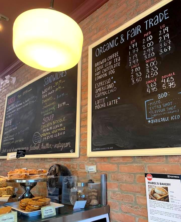 Mabel's Bakery Toronto menu and prices