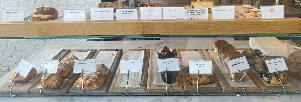 Selection of Contra Cafe baked goods