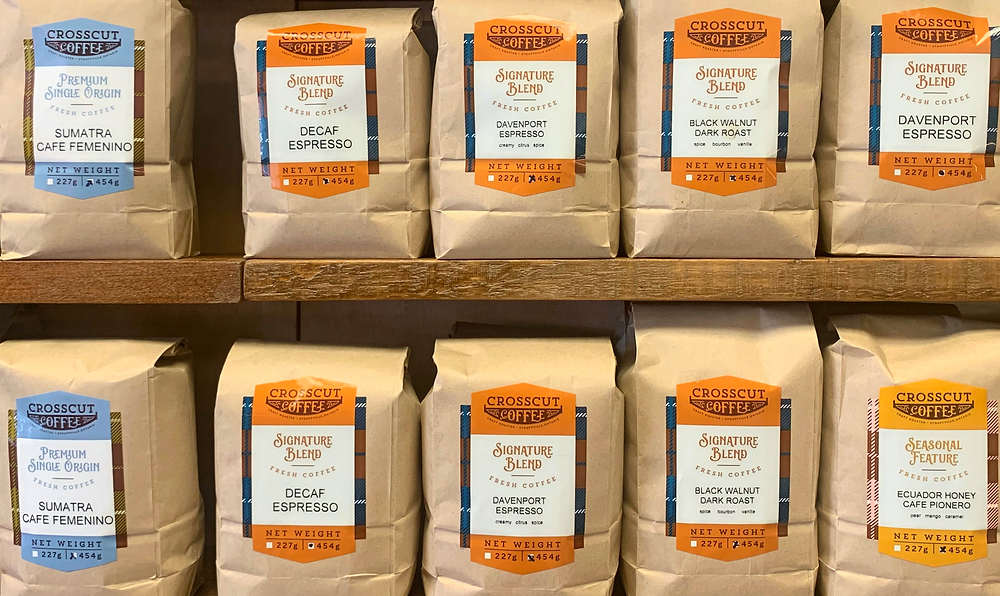 Crosscut Coffee beans from Stouffville Ontario roaster