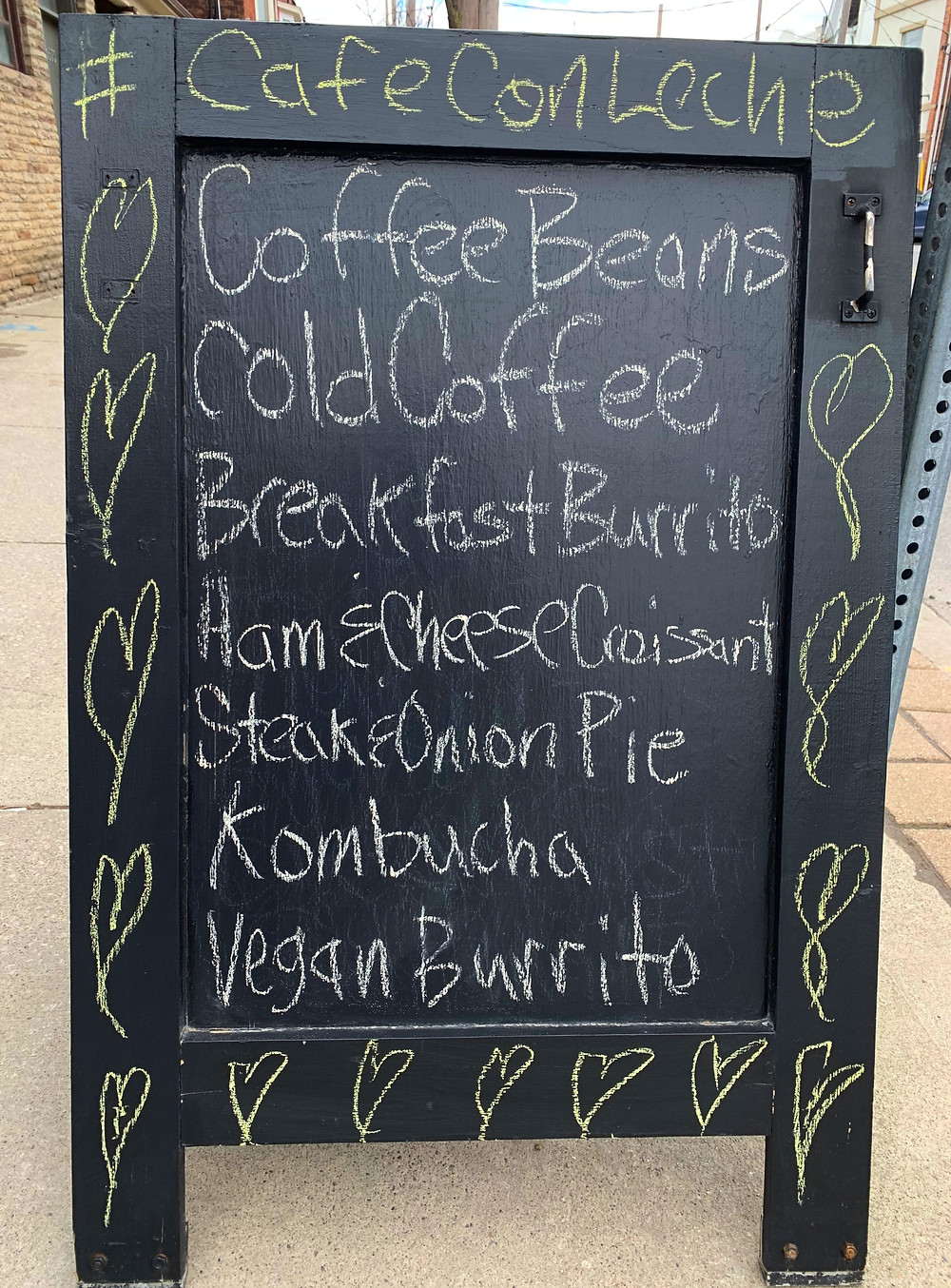 Cafe Con Leche Espresso Bar menu