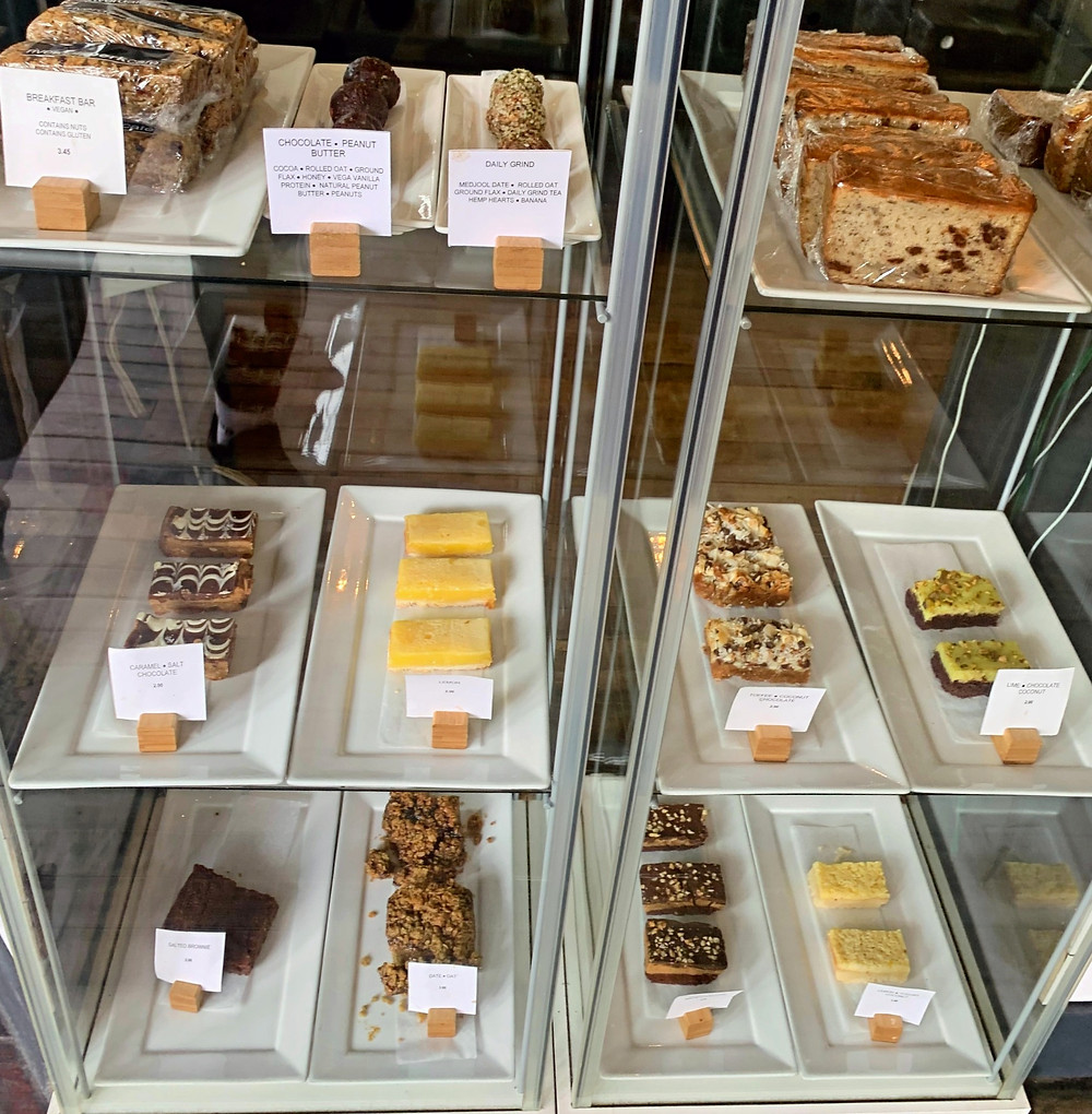 Large selection of baked goods at Riverdale Perk Cafe Toronto