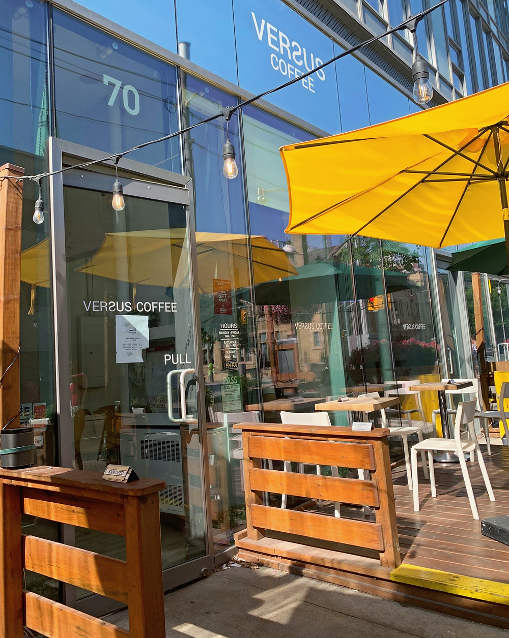 Coffee patio downtown Toronto Versus Coffee
