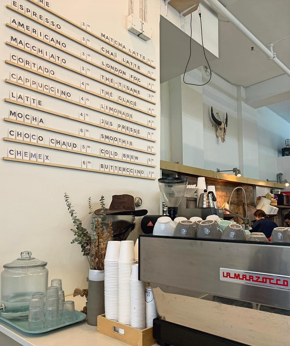 La Finca menu best coffee Montreal