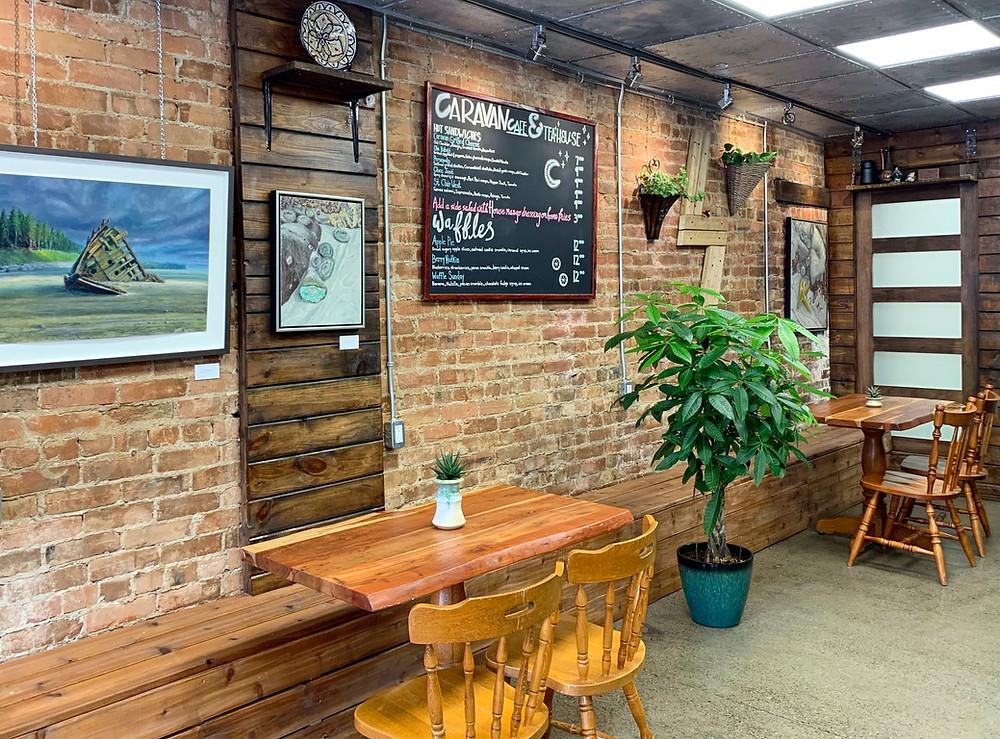 Caravan Cafe & Tea House Toronto new coffee shop seating