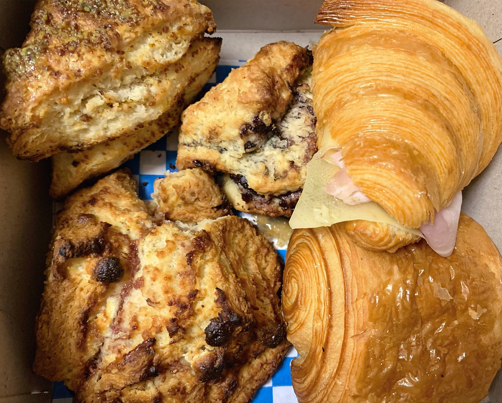 Homemade scones and croissant best baked goods Toronto The Sovereign coffee shop
