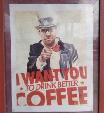 Ezra's Pound coffee poster