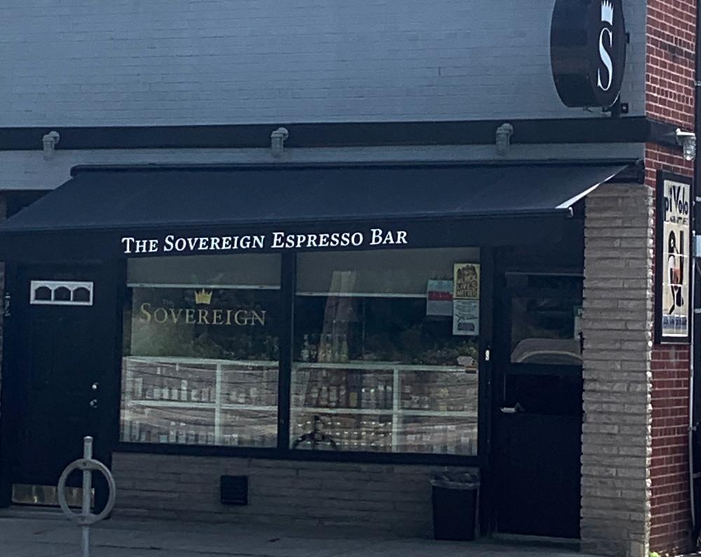 The Sovereign Espresso Bar Dufferin St Davenport St coffee shop