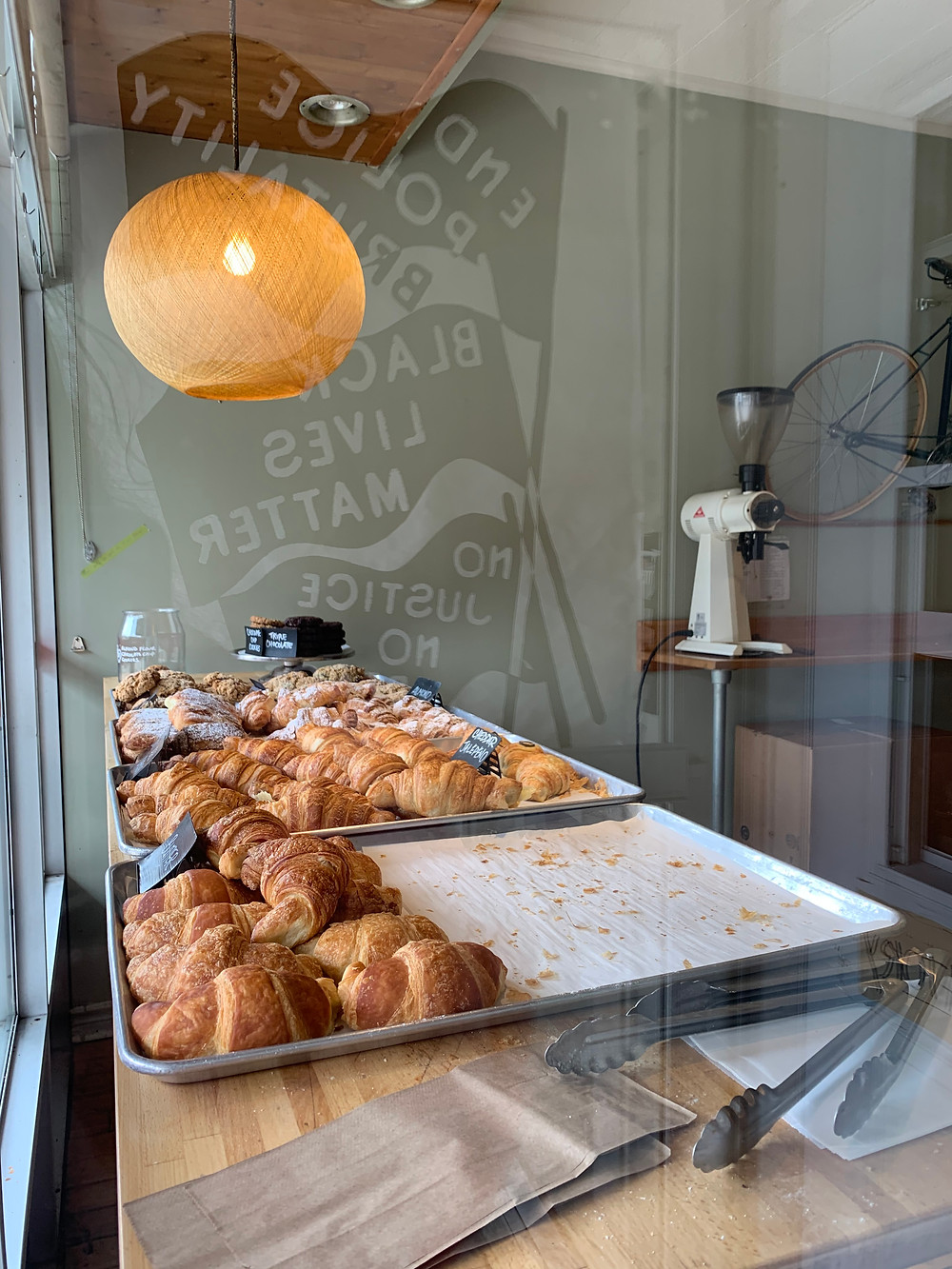 Croissants and baked goods at Cherry Bomb Coffee