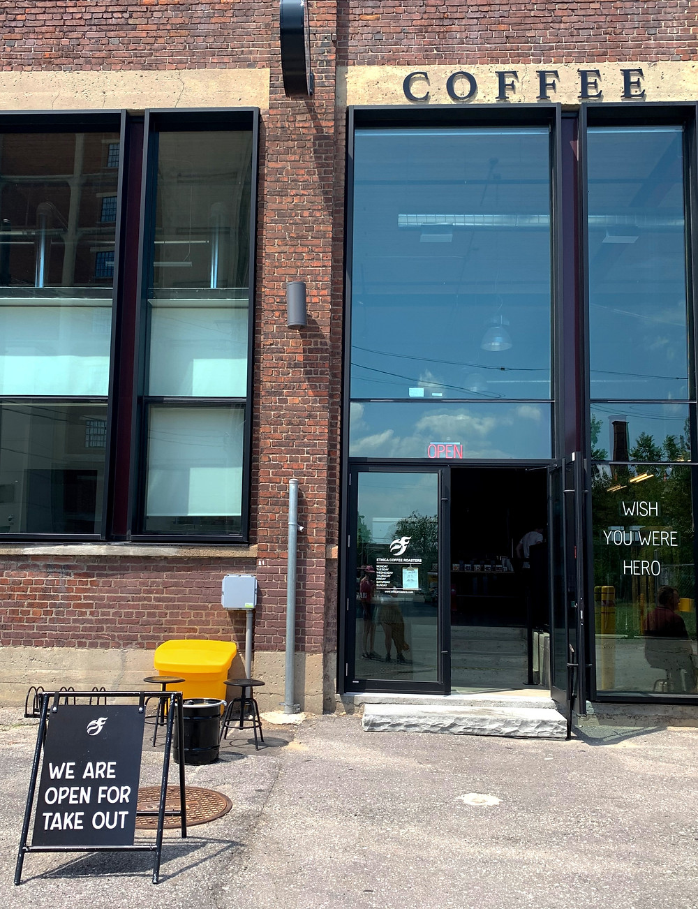 Ethica Coffee Roasters Lower Junction Triangle Toronto coffee shop and roastery