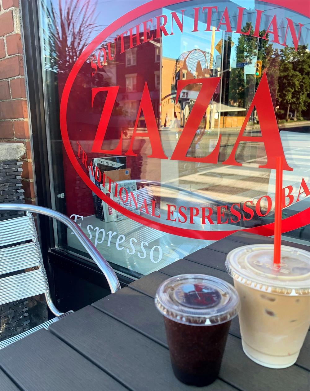 ZAZA Espresso Bar St Clair coffee shop patio