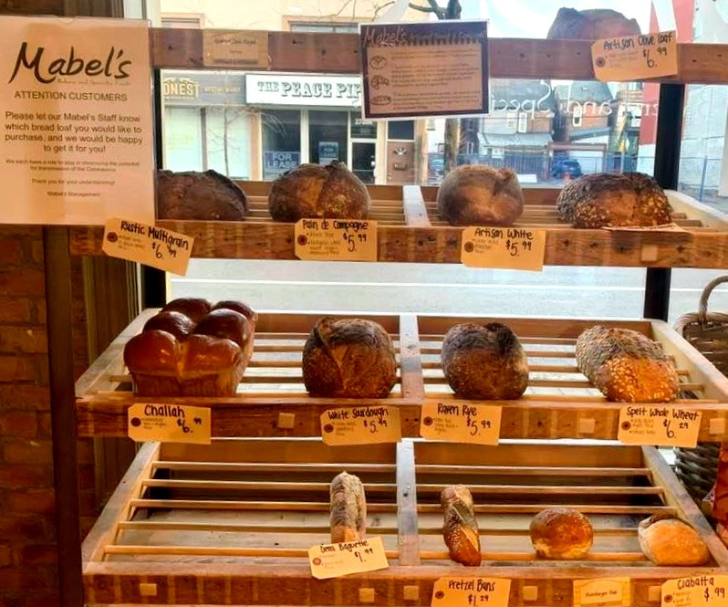 Fresh home baked bread at Mabel's Bakery Toronto Junction