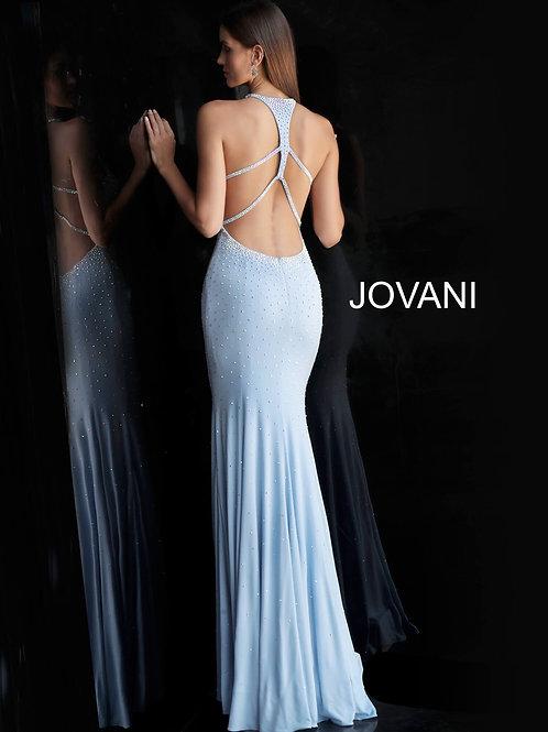 Jovani High Neckline Jersey Dress 67101
