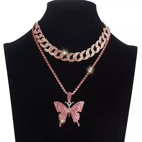 Pink Butterly Set with Cuban