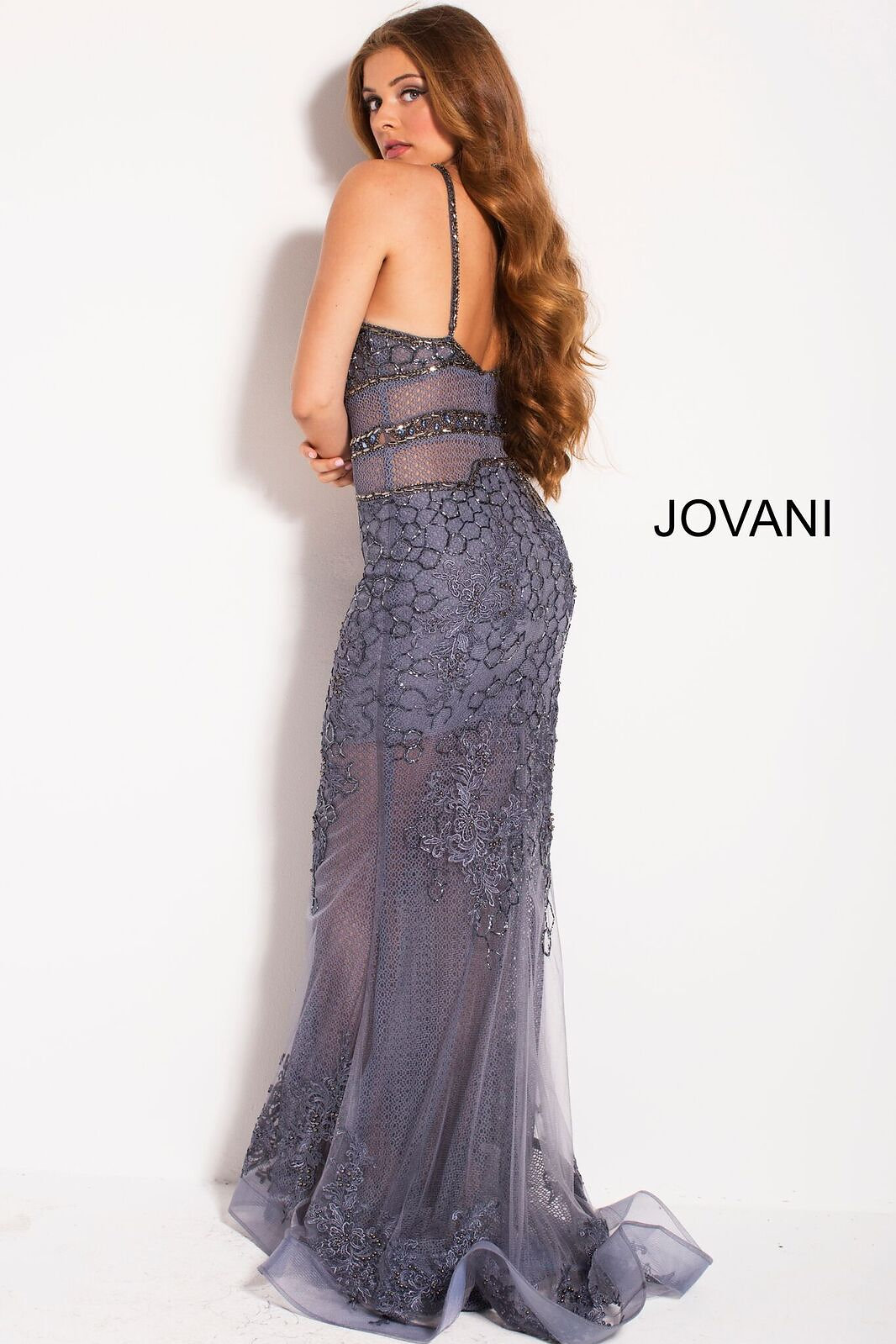 61e76073688 Jovani Applique Illusion Formal Dress - Gomes Weine AG