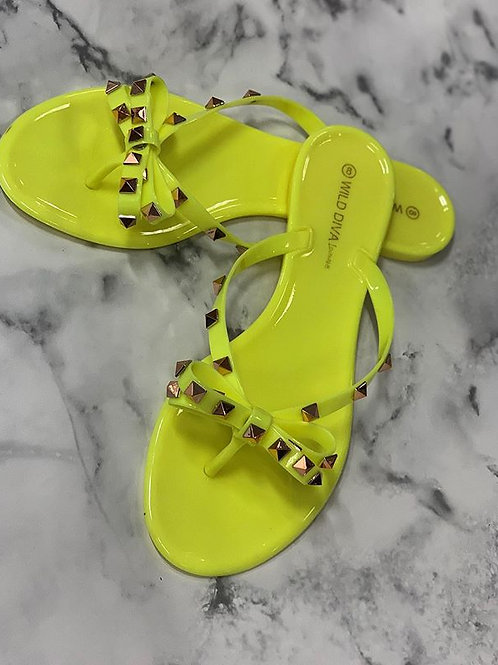 Neon Jelly Shoes