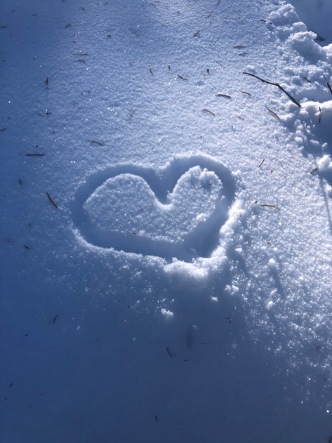Heart of snow. My sister drew this one :)