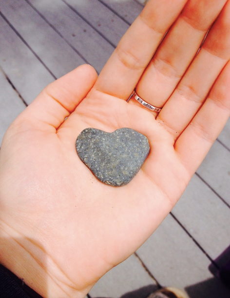 Heart of stone. Found in San Diego on a women's silent spiritual retreat. May God take my heart of stone and give me a heart of flesh!