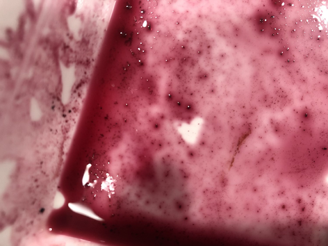 Heart of blueberry juice