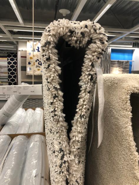 Heart of rug. Browsing around Ikea and saw this hanging rug on display.