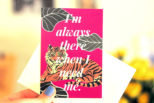 I'm Always There Tiny Postcard