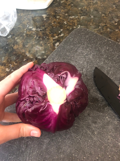 Heart of Red Cabbage