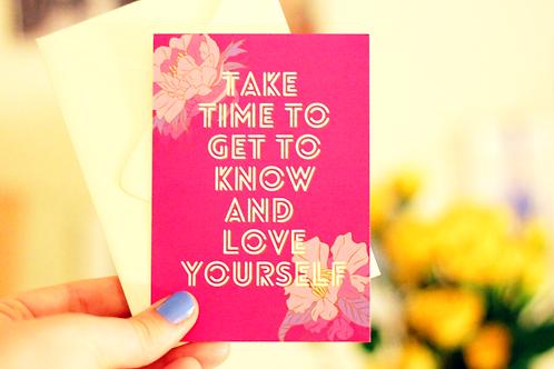 Take Time Tiny Postcard