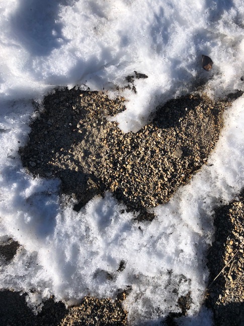 Heart of melting snow. On a trip with my family to Donner Lake.