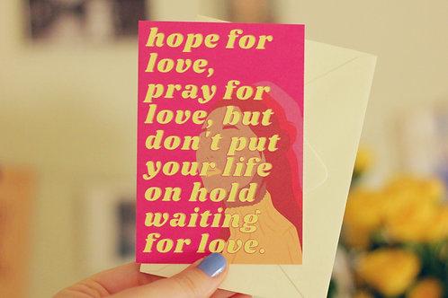 Hope for Love Tiny Postcard