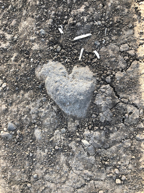 Heart of hole in the dirt.