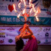 Bailarines de fuego para fiestas y eventos