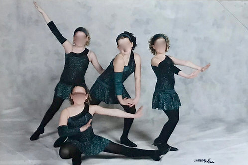 SMALL GROUP- Dark Green Sparkly Bodysuit with Skirt