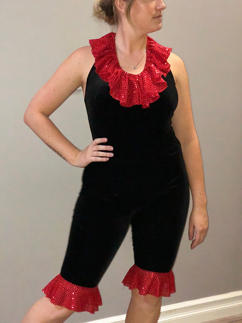 SOLO-Black & Red Body Suit with Pants