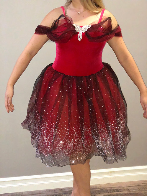 SMALL GROUP-Red and Black Romantic Tutu
