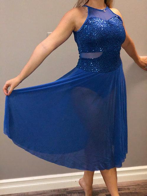 TRIO-Sequinned Flowy Dress