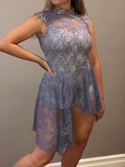 SOLO-Sequinned Lace Dress