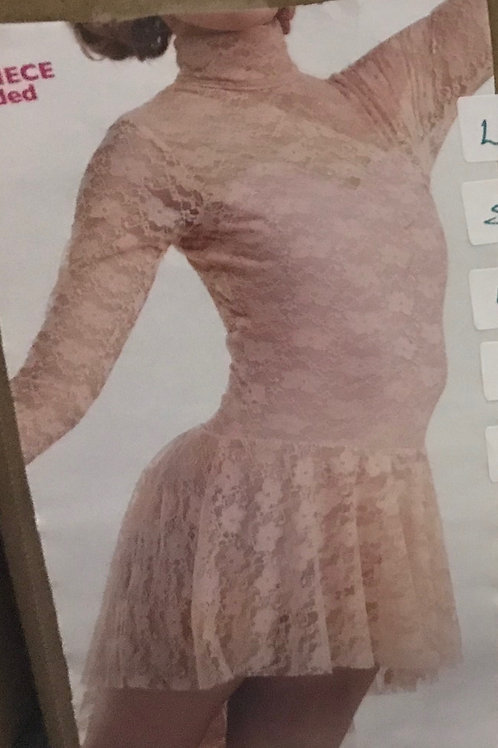 SMALL GROUP-Pink Lace Dress With Open Back