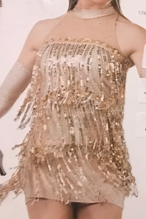SMALL GROUP-Gold Sequin Flapper Costume
